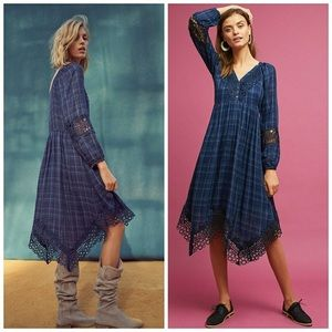 Akemi +kin plaid kerchief dress